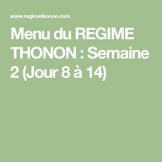 Regime thonon 2 jour