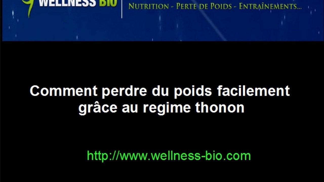 Regime thonon nutrition