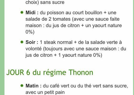 Regime thonon salade sans sauce