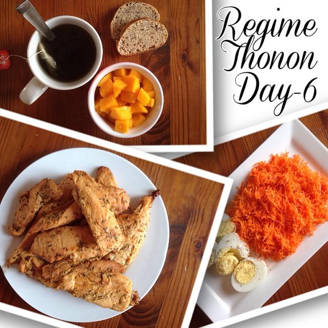 Jour 6 regime thonon