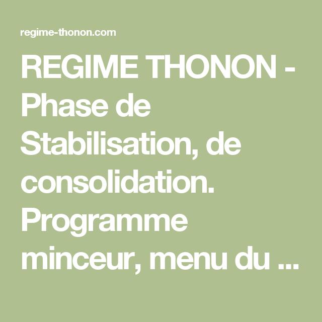 Regime thonon experience