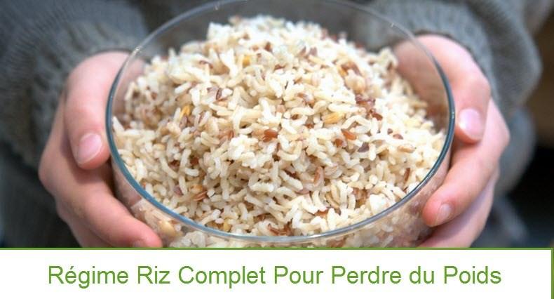 Recette regime riz complet