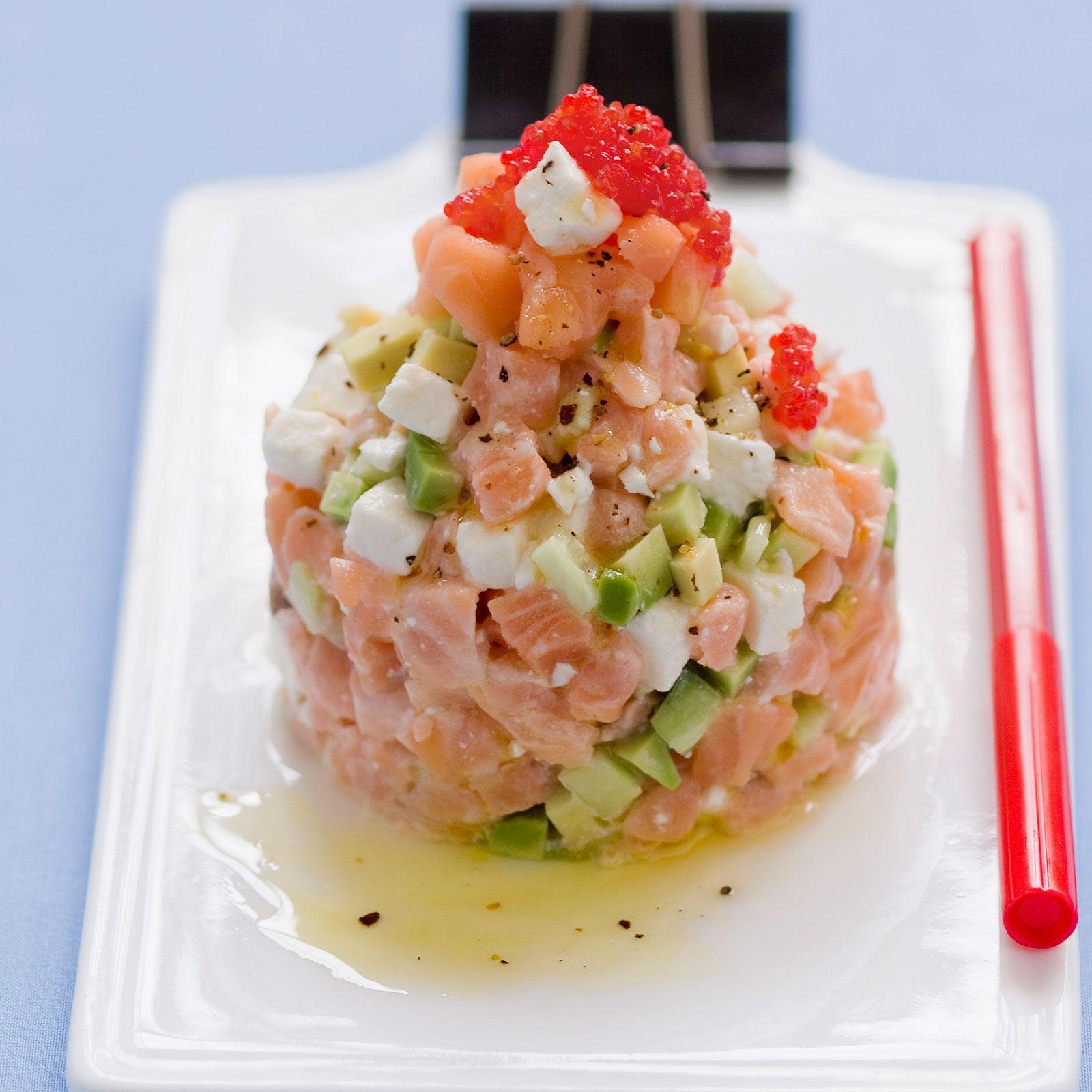 Recette minceur tartare de saumon