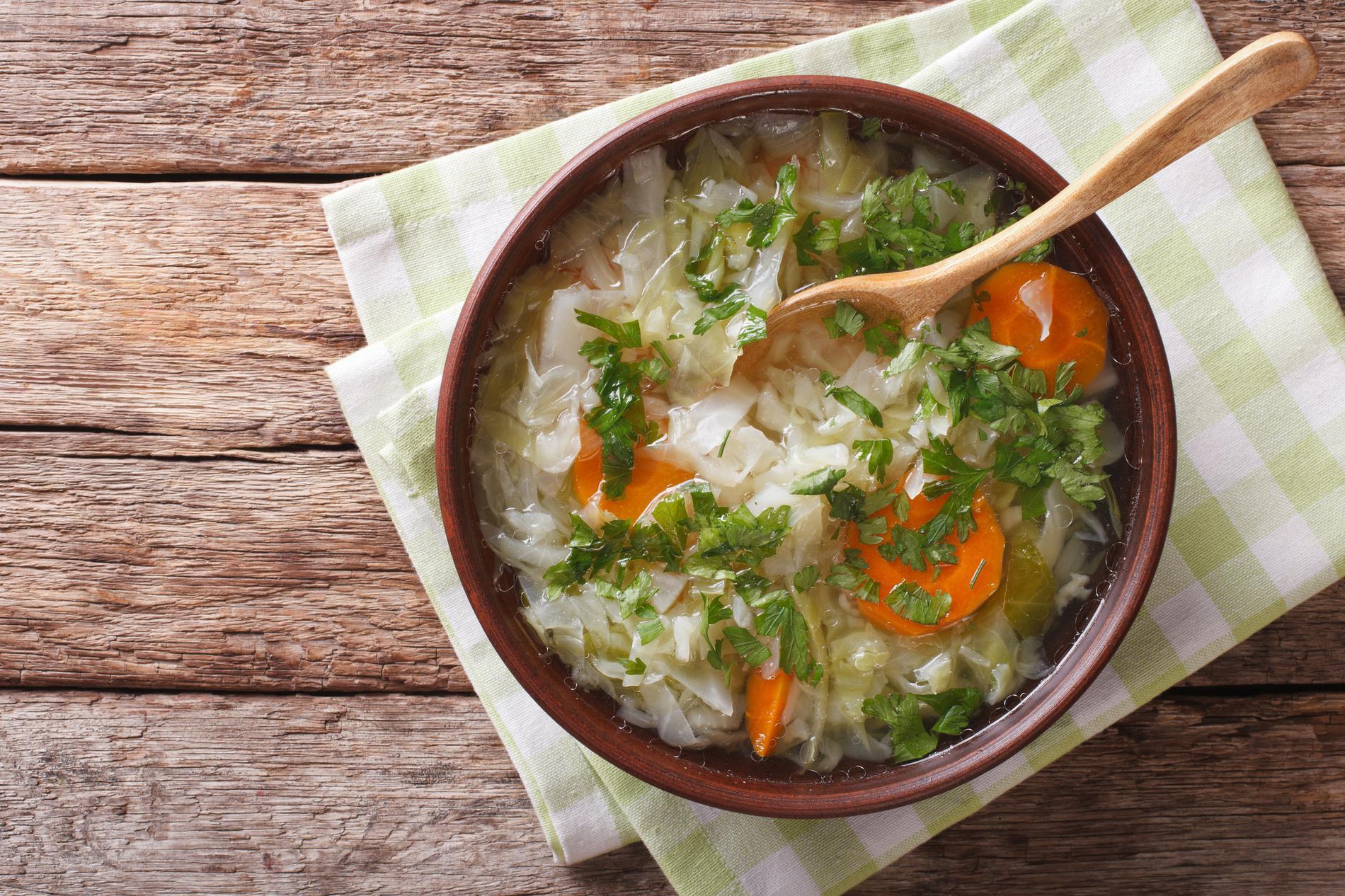 Recette soupe au chou regime 804