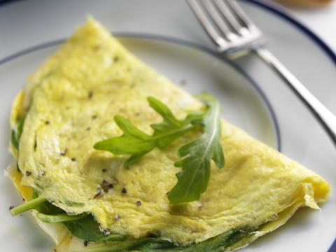 Recette minceur omelette